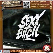 Sticker autocollant sexy bitch Chienne humour humoristique voiture moto ipad