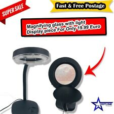 NEW LED Desk Lamp - Magnifying Magnifier Glass With Light Stand Clamp For Repair