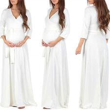 Pregnant Women Floral Maxi Long / Midi Maternity Summer V Neck Dress Photo Shoot