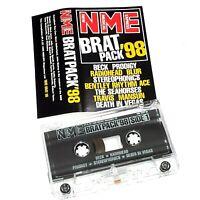 NME BRAT PACK 98 PROMO CASSETTE TAPE ALBUM PRODIGY BECK RADIOHEAD BLUR MANSUN