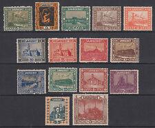 Saar Sc 99/116 MNH. 1922-1923 Pictorials, no #105, 107, 112, o/w cplt, F-VF