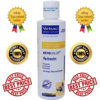 2x Antifungal Cleansing Shampoo For Dog Cat Horse 200ml Virbac Ketochlor