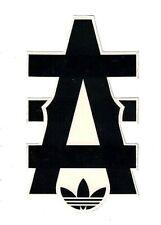 "Adidas Sticker ~ Big A & Logo 4.5"" Snowboard Skateboard Bmx Surf Decals New"