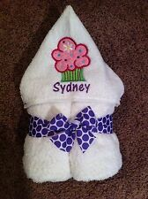 Personalized Cupcake White Hooded Towel