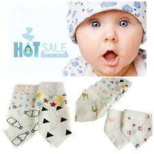 Soft Infant Gauze Cotton Baby Saliva Towel Triangle Bibs Feeding Bandana