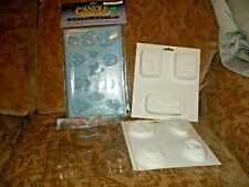 Three soap molds and one candle making mold   NEW
