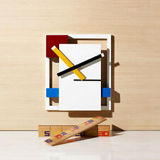 Modern Novelty Wall Clock Inspired by the De Stijl Art Movement Mondrian