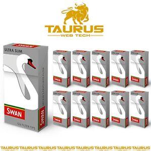 2520 x SWAN ULTRA SLIM Filter Tips Pre Cut Cigarette Tobacco Rolling Smoking UK