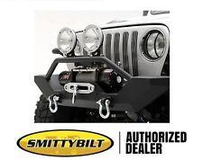 Smittybilt XRC Front Bumper w/ Winch Plate 87-95 Jeep Wrangler YJ 76801 Black