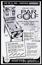 1965 Chicago Coin Par Golf coin-op arcade game machine photo trade print ad