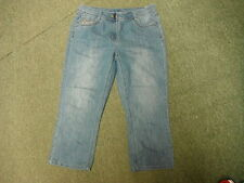 "George Cropped Jeans Size 14 Leg 22"" Faded Medium Blue Ladies Jeans"
