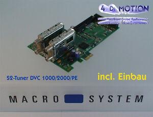 !!! NEU !!! DVC-S2-SAT-Tuner für DVC-1000/2000/PE mit Einbau !!! NEU !!!
