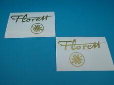 """Kreidler Florett Eiertank K54 0M """"Florett + Logo"""" Tankaufkleber Aufkleber GOLD"""