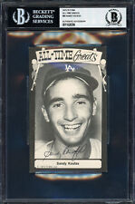 Sandy Koufax Autographed 1975 TCMA All Time Greats Postcard 89 Beckett 11628396