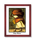 Diego Rivera Mujer Con Canasta Wall Picture Cherry Framed Art Print