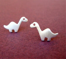 Animal Brontosaurus Dinosaur Silhouette Shaped Earrings for Women Girls Jewelry