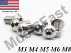 M3 M4 M5 M6 M8 Stainless Steel Button Head Socket Screw A2 Hex-Key Metric