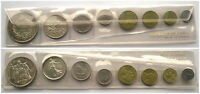 France 1967 FDC Mint Set of 8 Coins,With 2 Silver Coin,Rare