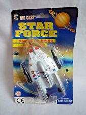 VINTAGE DIE CAST /  STAR FORCE / TAMPO PRINTING / PULL BACK SHIP / BY KNIGHT