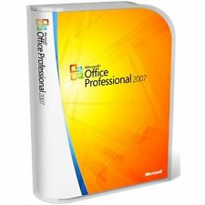 MICROSOFT OFFICE PROFESSIONAL 2007 -WORD,EXCEL,OUTLOOK,ONE NOTE - 5 USER/PC
