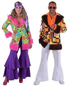 70er 80er Jahre Mantel Kleid Kostüm Flowerpower Hippie Party Disco Hippy Jacke