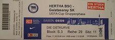 TICKET UEFA Cup 2008/09 Hertha BSC Berlin - Galatasaray Istanbul