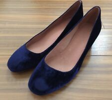 New Women Madewell Low Heel Pump Suede Shoes Navy Size 8.5 $128