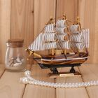 Handmade VINTAGE Nautical Wooden Wood Ship Sailboat Boat NEW Model Decor #9