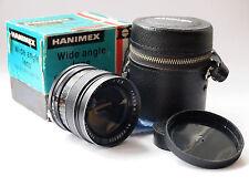 HANIMEX 28mm f/2.8 Minolta Mount Lens con Scatola e caso u3158