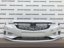 VAUXHALL ASTRA K 2016-2018 FRONT BUMPER IN WHITE WITH GRILL GENUINE [Q311]