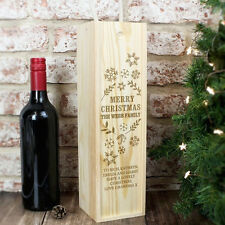 Personalised Christmas Alcohol Bottle Presentation Box - Wine, Whiskey, Vodka