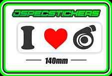 STICKER I LOVE TURBO IMPORT BOOSTED DRIFT RALLY RACE COMMODORE XR6 FORD CAR BOAT