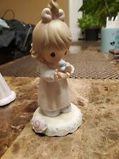 Precious Moments Creciendo en Gracia edad 9 Estatuilla De Porcelana De Cumpleaños