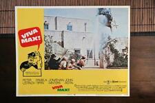 VIVA MAX Original MEXICAN WAR HELICOPTER Lobby Card PETER USTINOV JOHN ASTIN