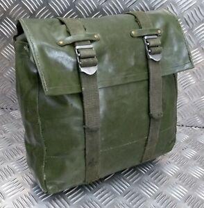 Genuine Vintage Military Issue PVC Heavy Duty Back Pack Pannier Side Bag PBPG1