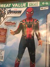Marvel SPIDERMAN Avengers Endgame Iron Spider Man Costume child Small 4-6 NEW