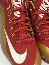 Nike Alpha Pro 2 TD Football  Cleats 729445-628 Mens Team 49ers NEW  Size 12