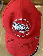 Archie Manning New Orleans Super Bowl Autographed adjustable Reebok hat Plus 1
