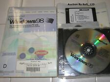 MICROSOFT WINDOWS 98  FULL ENGLISH VERSION OPERATING SYSTEM MS WIN =NEW SEALED=