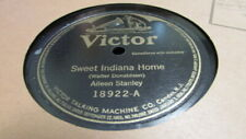 AILEEN STANLEY VICTOR 78 RPM RECORD 18922 SWEET INDIANA HOME