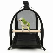 Portable Bird Carrier Travel Cage Breathable Transparent Handbag Lightweight
