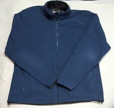 REI Men's Blue Poly (Feels Like Cotton) Full Zip Stand Collar Jacket Sweater XL