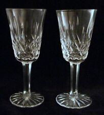 Waterford LISMORE 2 Sherry Glasses GREAT CONDITION