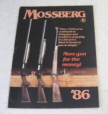 MOSSBERG FIREARMS 1986 GUN CATALOG