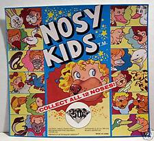 Nosy Kids Gumball Vending Machine Card Old Stock