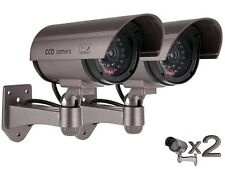 2 X Dummy / Fake Cámaras De Seguridad Cctv-save £ £ £ _ intermitente LED luz