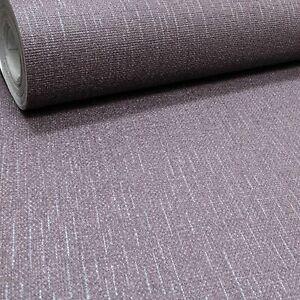 Dark Purple Plum Burgundy Glitter Shimmer Effect Textured Plain Vinyl Wallpaper