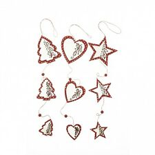 Scandi / Nordic Star / Heart / Tree Garland / Hanging Ornament Decoration * Xmas