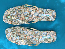 Frank and Kahn wmns flip flop flat sandals size 7 Liberty tana lawn fabric cute