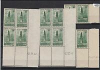 france mint never hinged numbered stamps blocks  ref r11065